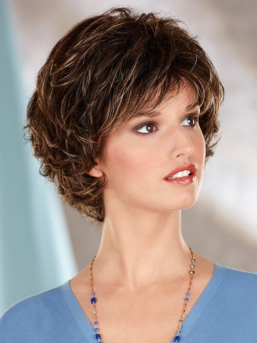 Color 626H = DARK BROWN WITH GOLDEN BLONDE HIGHLIGHTS