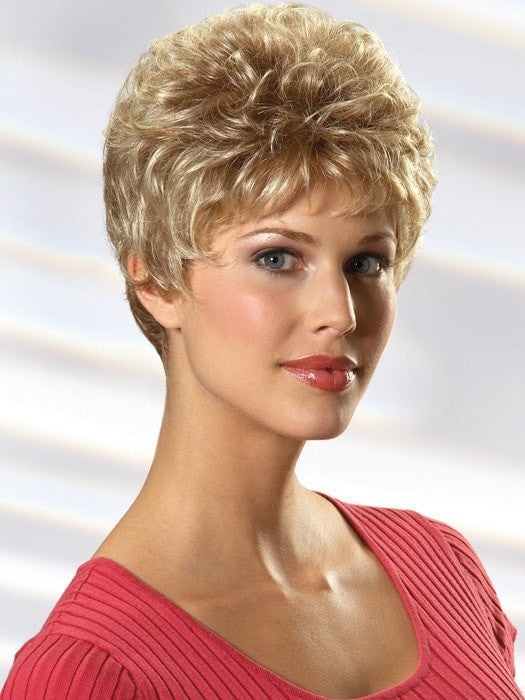 Pamela has soft curl throughout adds extra body enabling one to easily finger style this cut.