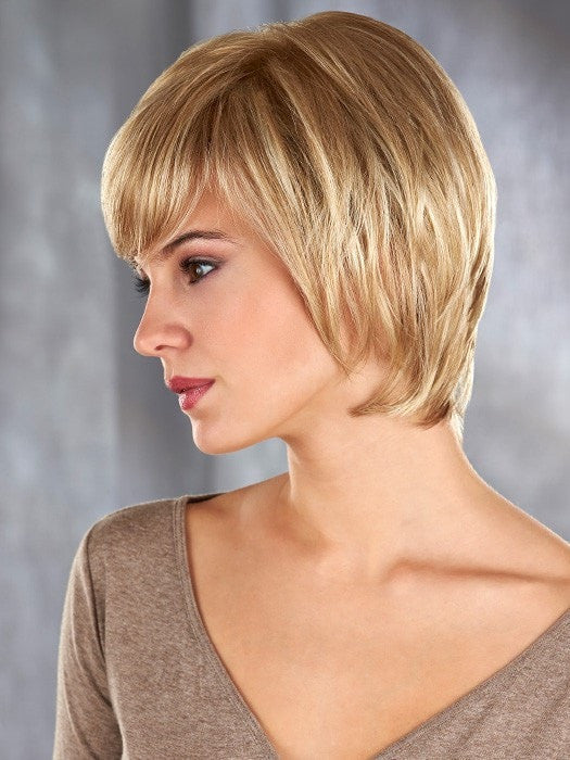 Madison is a sleek, short layered cut combined with a mono top & ultra thin weftings