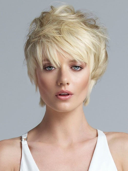 Color 160 = Platinum Blonde | Short Top Extension by Tabatha Coffey