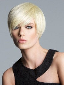 Color 160 = Platinum Blonde | Short Bob by Tabatha Coffey