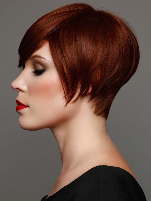 Color 134 = Bright Auburn | Short Bob by Tabatha Coffey