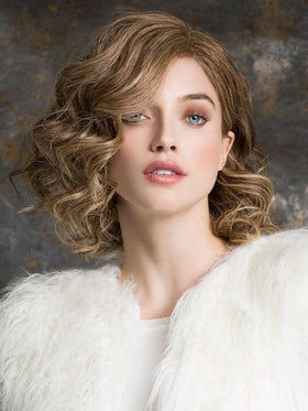 TRINITY PLUS by Ellen Wille in BERNSTEIN MIX | Light Brown Base with Subtle Light Honey Blonde and Light Butterscotch Blonde Highlights