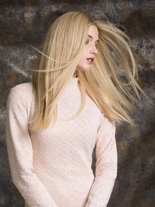 OBSESSION by Ellen Wille in CHMAPAGNE ROOTED | Light Beige Blonde,  Medium Honey Blonde, and Platinum Blonde Blend with Dark Roots