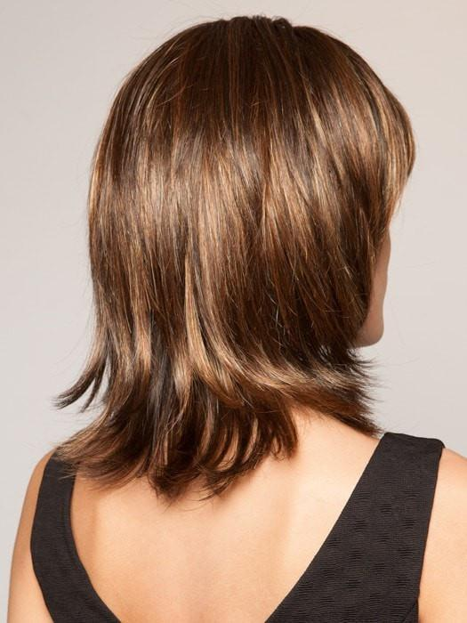 SS829S+ SHADED HAZELNUT | Rich Medium Brown Evenly Blended with Ginger Blonde Highlights with dark roots