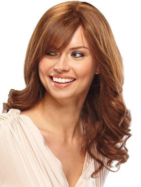 Color 8/30 = Cocoa Twist: A Medium Brown & Golden Red Blend | Veronica by Jon Renau | 70% OFF - WigOutlet.com