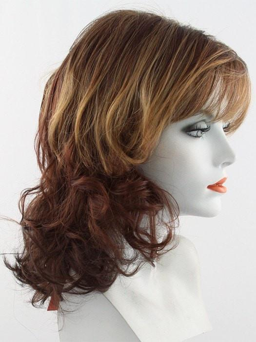 32BF | Medium Natural Red Base with Medium Red-Gold Blonde Tips, Dark/Medium Red Nape