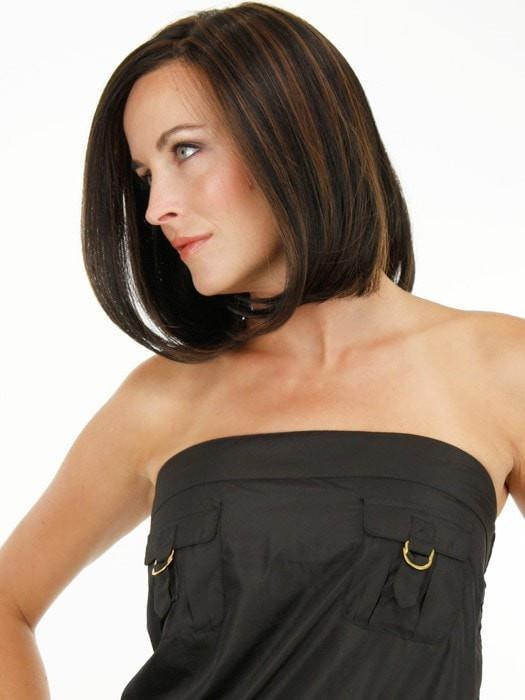 HAUTE by Jon Renau in 1BRH30 CHOCOLATE PRETZEL | Soft Black with 33% Gold-Red Highlights
