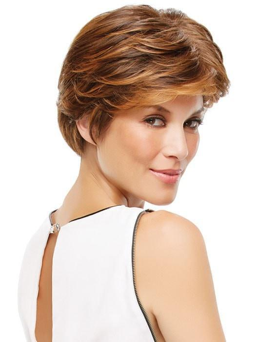 Monofilament Top - Hand-tied and sheer top creates the illusion of a natural looking scalp | Color: 6F27