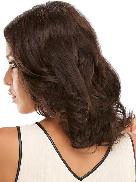 Add a slight wave with a curling iron, or flat iron it stright