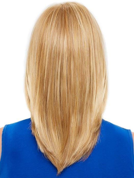 Long layers throughout the sides and back give the hair gorgeous movement