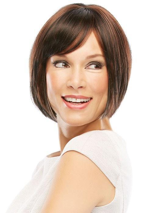 Linda by Jon Renau: Color 1BRH30 Chocolate Pretzel (Off Black w/ 33% Golden Red Highlights)