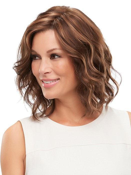 JULIANNE WIG by Jon Renau in FS6/30/27 TOFFEE TRUFFLE | Brown, Medium Red-Gold, Medium Red-Gold Blonde Blend with Medium Gold Blonde Bold Highlights