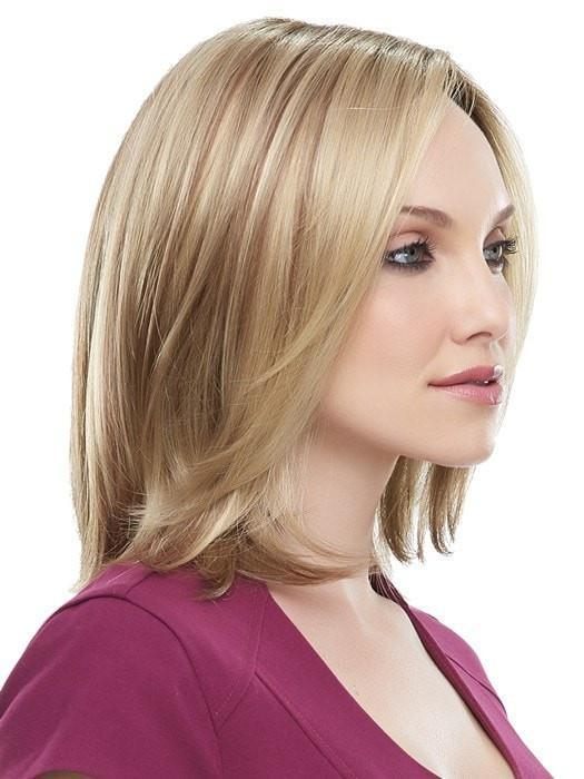Side fringe is blended away from the face
