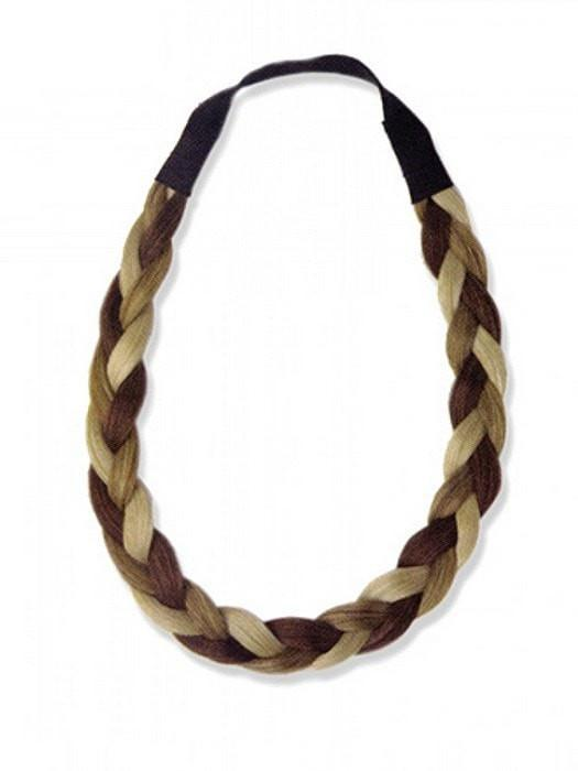 Synthetic braided headband that makes a great accent to any hair style