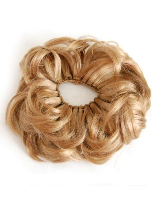 Embellish buns & ponytails with a fall of thick, wavy locks on an elastic wrap.