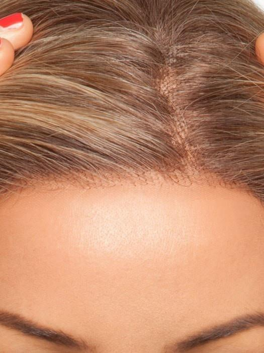 The Smart Lace Front creates a natural-looking hairline and allows for styling hair off the face