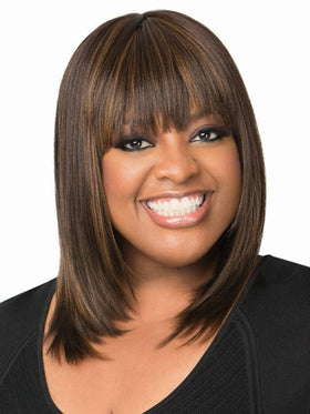 Color FS4/27 = Medium Dark Brown & Light Auburn | Light Touch Bob by Sherri Shepherd - NOW