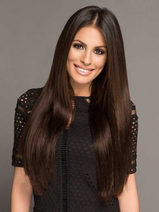 Color 2 = Dark Brown | Lilly Ghalichi Hair by Bellami | 20% OFF - WigOutlet.com