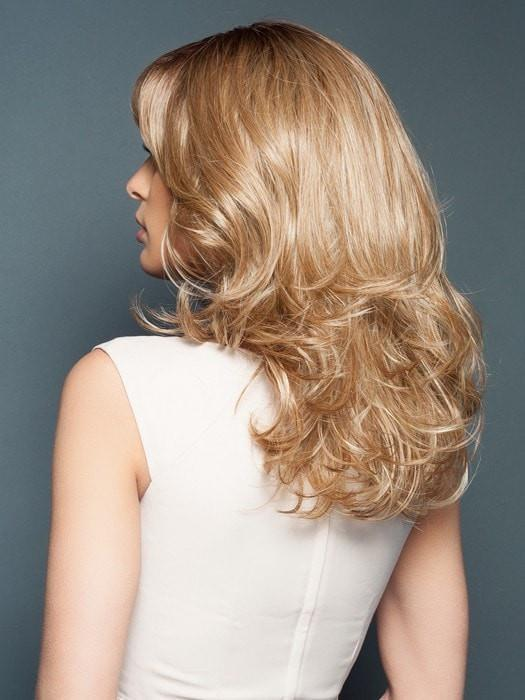 Large, loose curls can be styled straight using a flat iron