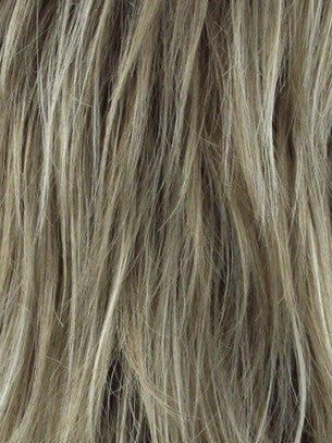 Color Mocha-H = Rooted Dark with Medium Ash Blonde with Platinum Blonde highlight