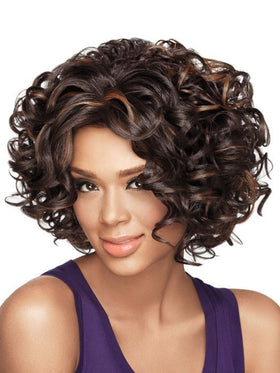 Color FS4/27 = Medium Dark Brown & Light Auburn | Soft Curls by Sherri Shepherd - NOW | 25% OFF