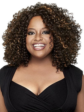 Color FS4/27 = Medium Dark Brown & Light Auburn | Curl-Intense by Sherri Shepherd