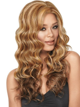 Color F2016 = 	Medium Dark Brown, Medium and Light Auburn | Goddess Waves by Sherri Shepherd