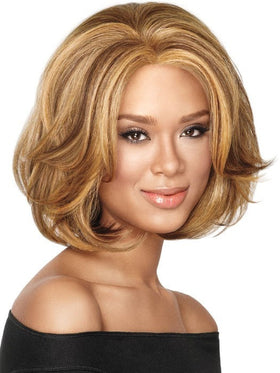 Color F2016 = Medium Dark Brown, Medium and Light Auburn | Big-Wave Bob by Sherri Shepherd - NOW | 25% OFF - WigOutlet.com