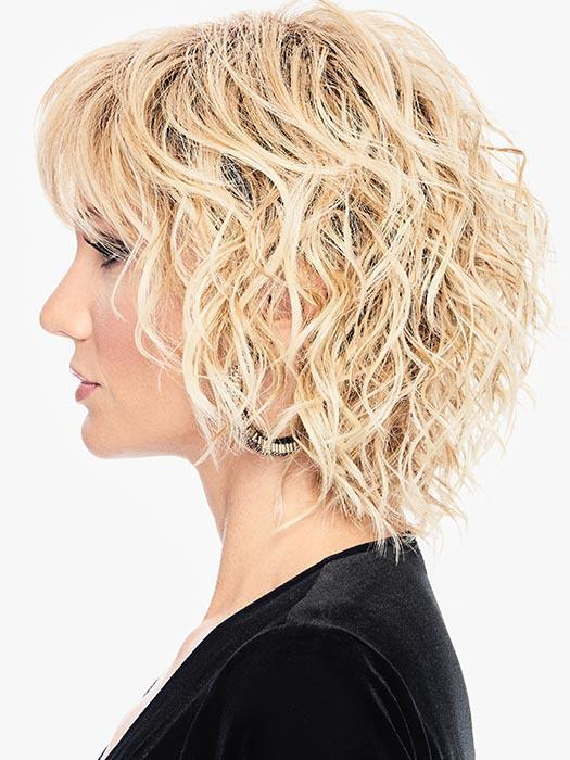 BREEZY WAVE CUT is big on curl and texture but with face-framing tapered cut lengths that flatter every face shape