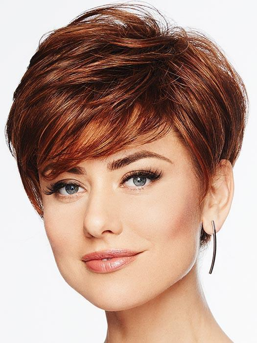 PIXIE PERFECT by HAIRDO in R3025S+ Glazed Cinnamon | Medium Reddish Brown with Ginger Blonde highlights