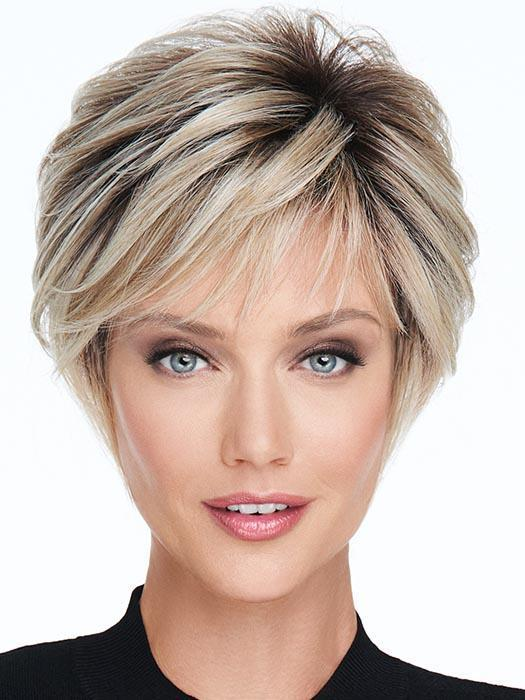ON YOUR GAME by RAQUEL WELCH in RL19/23SS SHADED BISCUIT | Light Ash Blonde Evenly Blended with Cool Platinum Blonde with Dark Roots
