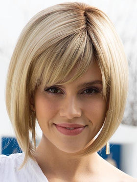 SCORPIO by RENE OF PARIS in CREAM BRULEE | Medium Golden Blonde with Light Blonde highlights and a Medium Brown root