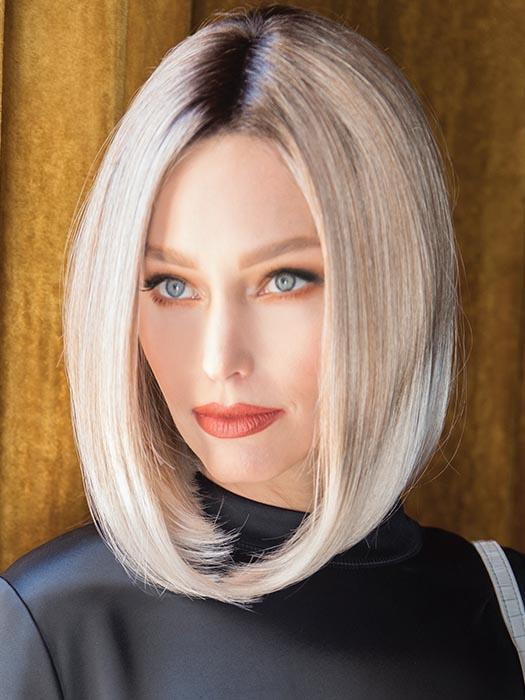 CHEYENNE by RENE OF PARIS in MELTED MARSHMALLOW | Subtly warm dark sandy blonde blend with medium brown roots and light ash blonde tips and highlights