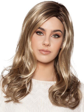 CAMILA by WIG PRO in 12-R8 | Chestnut Brown with Light Golden Brown Rooted base