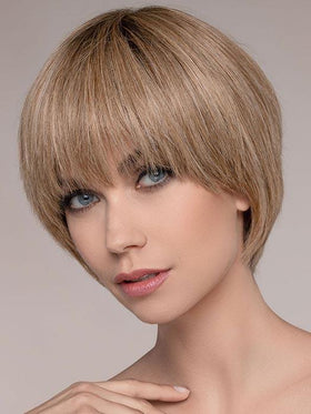 With an impeccable extended lace front, it allows you to wear the bangs down or up and away from the face