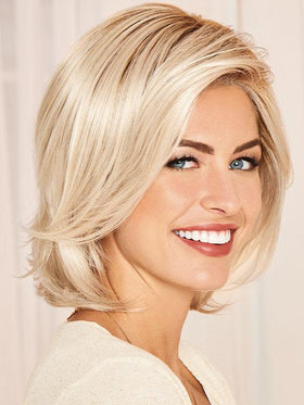 FLATTER ME by Gabor in GL23-101SS SUN-KISSED BEIGE | Dark Golden Blonde base blends into multi-dimensional tones of Lightest Beige Blonde