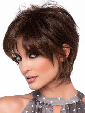 WHITNEY by ENVY in CHOCOLATE CARAMEL | Medium Brown with Soft Red and Blonde highlights