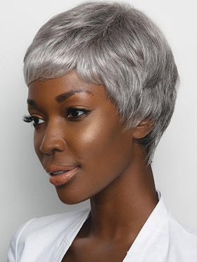 GABBY by RENE OF PARIS iN SILVER-STONE | Dark brown base with blend of three grey shades