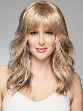 FAUX FRINGE by RAQUEL WELCH in R14/88H GOLDEN WHEAT | Dark Blonde Evenly Blended with Pale Blonde Highlights