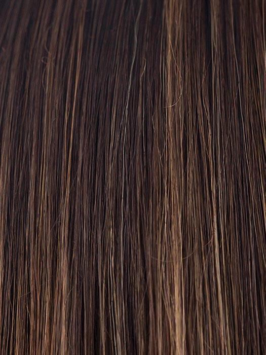COFFEE-LATTE | Dark brown with dark brown & honey brown blended highlights