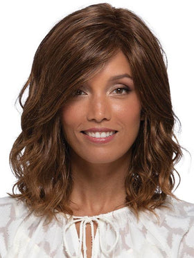 PETITE BERLIN by Estetica in RTH6/28 | Chestnut Brown with Subtle Auburn Highlights and Auburn Tipped Ends