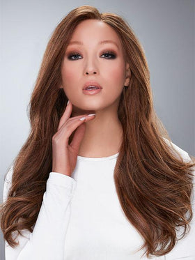 BLAKE LARGE by Jon Renau in FS6/30/27 TOFFEE TRUFFLE | Brown, Medium Red-Gold, Medium Red-Gold Blonde Blend with Medium Gold Blonde Bold Highlights