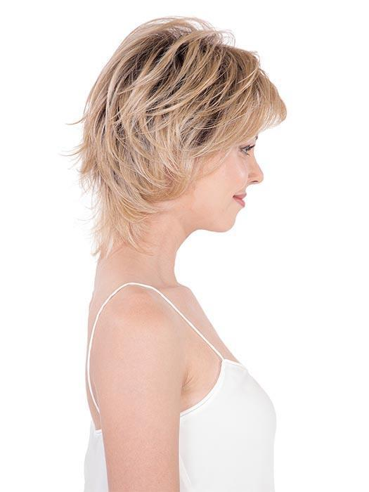 This refined and sassy tousled bob with choppy layers and side fringe is a perfect choice.