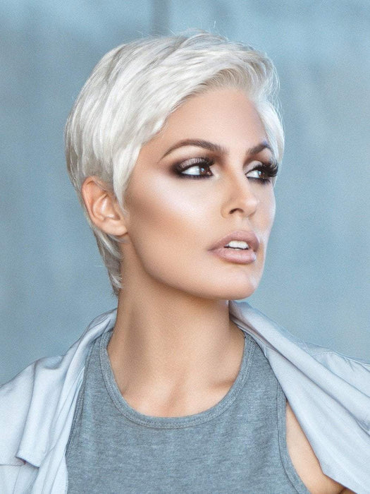 RISK by Ellen Wille (Not Hand-Tied) in SILVER MIX | Pure Silver White and Pearl Platinum Blonde Blend