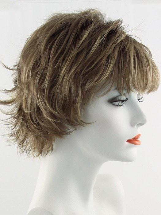 Color Mochaccino = Rooted Dark with Light Brown base with Strawberry Blonde highlights