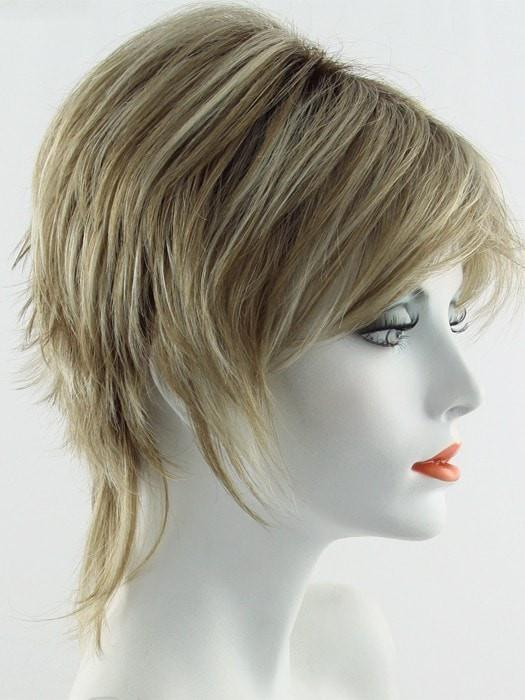 Color Creamy-Toffee =Rooted Dark with Light Platinum Blonde and Light Honey Blonde 50/50 blend