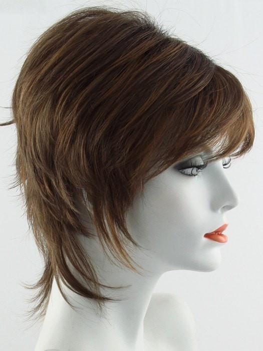 Color Terracotta=Rooted Dark Gold Brown base with Bright Auburn highlight