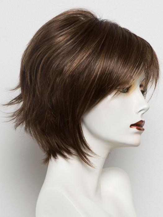AUBURN SUGAR-R | Dark Auburn with Medium Auburn Base with Dark Strawberry Blonde highlights with Dark Brown roots