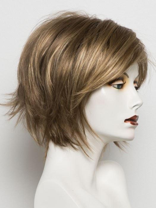 MOCHACCINO R | Rooted Medium Brown with Light Brown Base and Strawberry Blonde Highlights